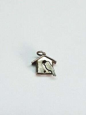 Vintage Sterling Silver Bird House Charm
