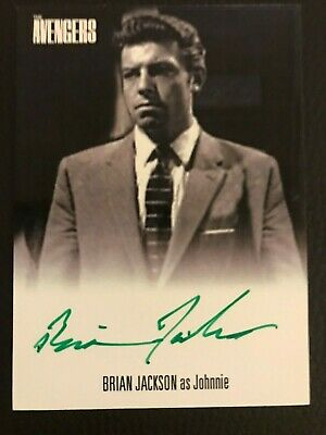 The Avengers Complete Collection Series 1 Autograph Card Brian Jackson - Green