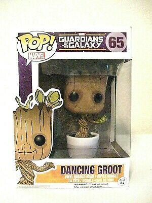 Funko Pop Guardians Of The Galaxy Dancing Groot Bobble Head #65 Nib Marvel