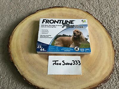 NEW Genuine Frontline Plus For Dogs 23-44 lbs 6 Doses Flea Tick 6 Month Supply