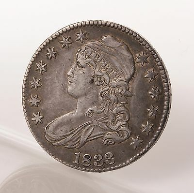 Raw 1833 Capped Bust 50C Uncertified Ungraded Silver Half Dollar Coin US Mint