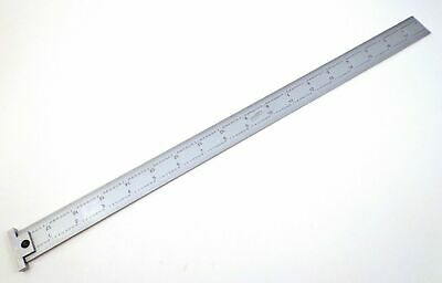 "Igaging 18"" Machinist Hook Ruler / Rule 4R with 1/8, 1/16, 1/32, 1/64 grads"