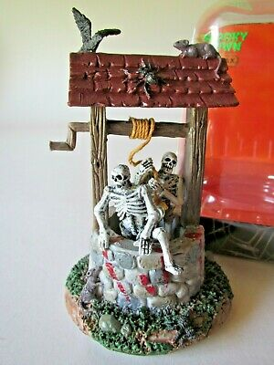 Lemax Spooky Town Halloween Village Accessory GHOULS IN A WELL As Is + Bonus