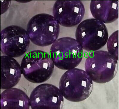 AAA+++ 8mm Natural Russican Amethyst Gemstones Round Loose Beads 15''