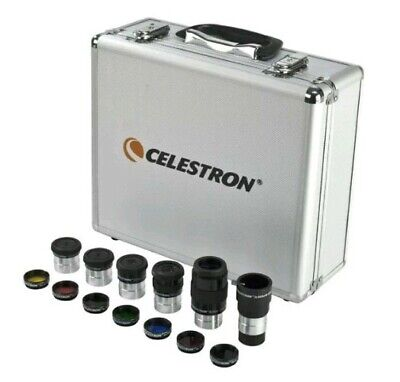 "Celestron Eyepiece and Filter Kit 14 Piece Telescope Accessory Set 1.25"" NEW"