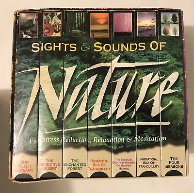 Box Set of 7 Nature Videos VHS Sights & Sounds of Nature