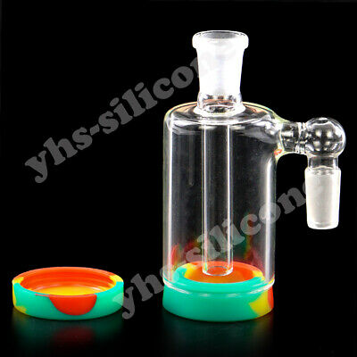14mm Glass Ash Catcher Bowl 90 Degree Bong Hookah Shisha 11ml Silicone Container
