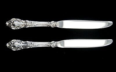 """Lot Of 2 Lunt ELOQUENCE Sterling /Stainless Dinner Knives 9"""" (A5393)"""