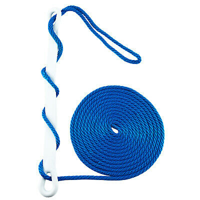 """2 Blue Double Braided 3//8/"""" x 20/' HQ Boat Dock Anchor Mooring Lines Tow Ropes"""