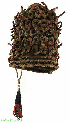 Bamileke Hat Small Fingerlings Woven Cameroon African Art SALE WAS $250.00