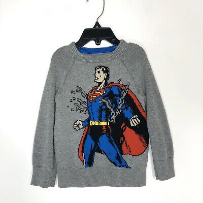 Baby GAP Junk Food Toddler Boys 2 2T Superman Sweater Character