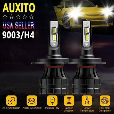 70w 6000K Bright White Low High for TOYOTA Tacoma H4//9003 LED Headlight Bulbs