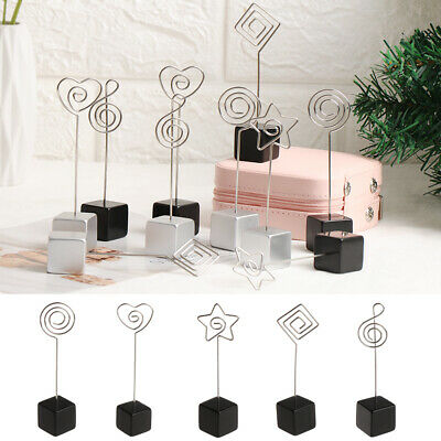 Cube 3 Wires Memo Paper Note Picture Table Card Number Photo Clip Holder SE