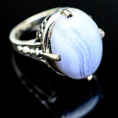 Blue Lace Agate 925 Sterling Silver Ring Size 6.5 Ana Co Jewelry R975691F