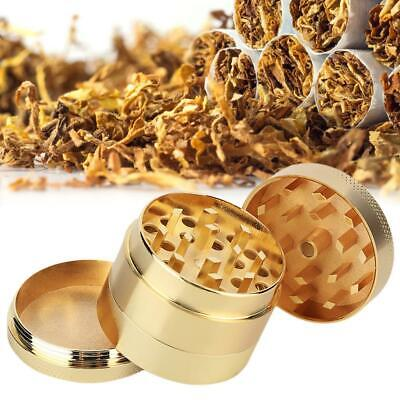 Metal Zinc Alloy Tobacco Herb Grinder 4-Layers Hand Muller Smoke Crusher Gold