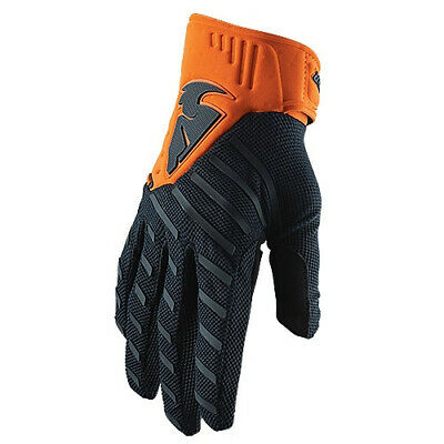 Thor Rebound Motocross Race MX Offroad Racing Gloves Midnight Orange Adults
