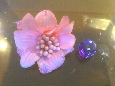 Claire's Claires Accessories Official Head Hair Clip Pink Flower £2.50 RRP