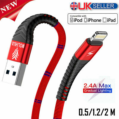 USB Lightning Data Sync Charging Cable Lead Charger Wire Cord for iPhone iPad