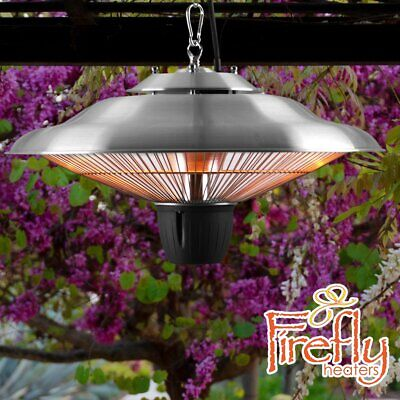Ceiling Mounted Electric Patio Heater 2kW Halogen Hanging Garden Light Firefly