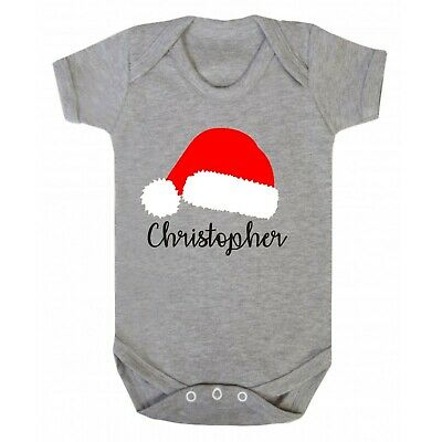 Personalised baby girls boys christmas santa vest - any name - variety of colour