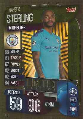 Match Attax Champions League 2019/20 GOLD LE8 Limited Edition STERLING Man City