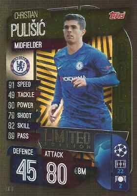 Match Attax Champions League 2019/20 GOLD LE9 Limited Edition PULISIC Chelsea