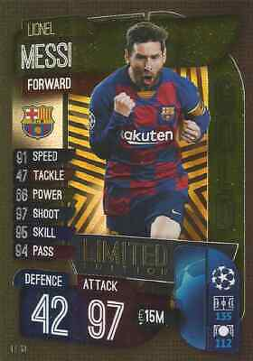 Match Attax Champions League 2019/20 GOLD LE13 Limited Edition Lionel Messi