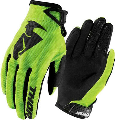 Thor Motocross Enduro MX Offroad Race Gloves Sector Lime Green Black Adults