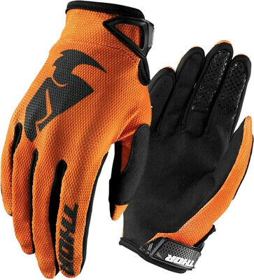 Thor Motocross Enduro MX Offroad Race Gloves Sector Orange Black Adults