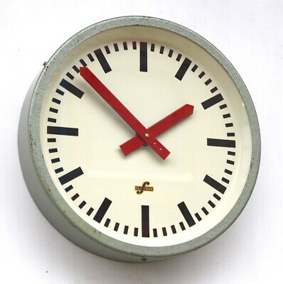 EAST GERMAN 1960s Midcentury Factory Retro Vintage Industrial Wall Clock