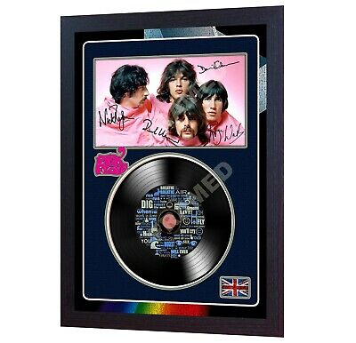 Pink Floyd David Gilmour SIGNED FRAMED PHOTO PRINT AND Mini LP
