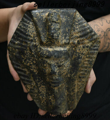 Antique China Hong shan Culture Stone Carving Pharaoh People Sun God Head Statue