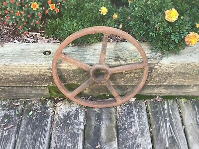 "Old 16"" Iron CRANE Valve Handle 5 Spoke Industrial Steampunk Vintage Antique"