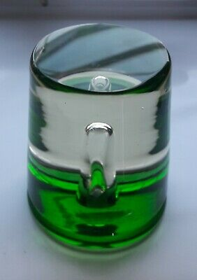 Mid 20th Century Murano Art Glass  Elongated Bubble Paperweight 7 cm high  1960s