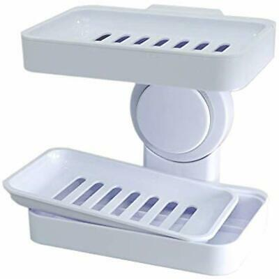 Powerful Suction Cup Soap Holder Shower, Wall Mounted Dish Bathroom And Kitchen,