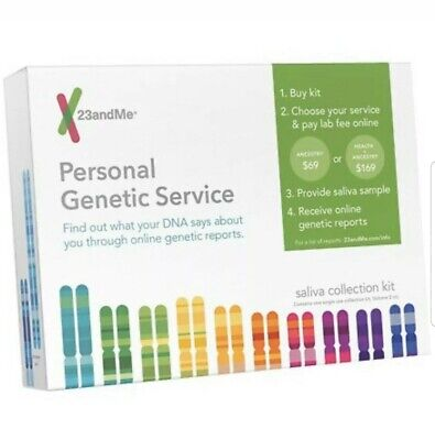 23 and me  Personal Genetic Service DNA Saliva Kit For Ancestry & Health