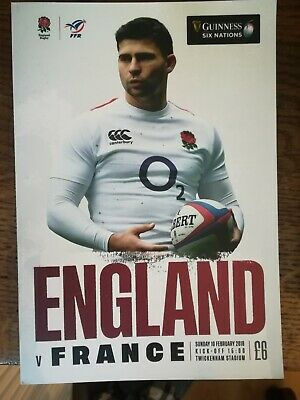 2019 England Vs France Programme: Six Nations: Rugby Union Sunday 10th Feb