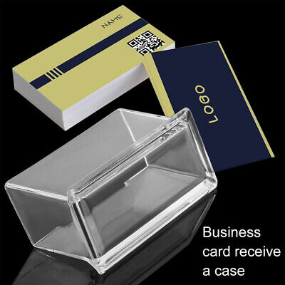 Acrylic Clear Desktop Business Card Holder Stand Display Dispenser Office UK