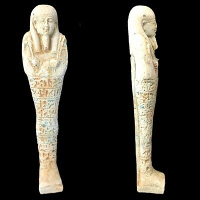 Very Rare Ancient Egyptian Hieroglyphic Shabti, Late Period