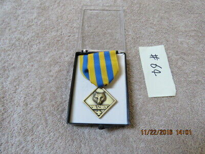 BSA CUBMASTER AWARD BLUE KNOTonGOLD BACKGROUND=1EA=NIP!