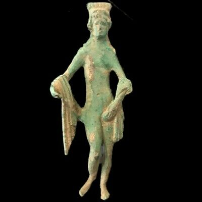 Very Rare Ancient Roman Bronze Female Statue 200-400 Ad