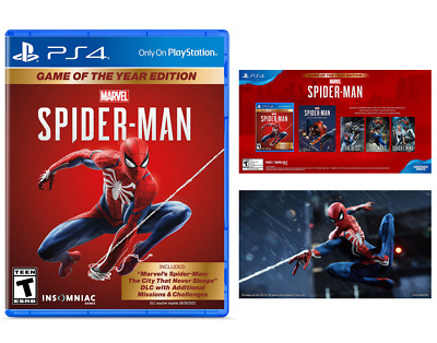 Marvel's Spider-Man: Game of The Year Edition - PlayStation 4 / PS4, Brand New!