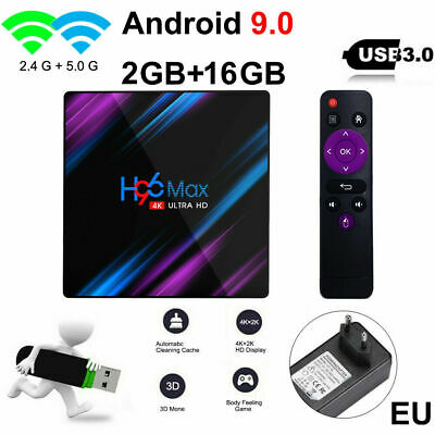 H96 Max 2GB+16GB Smart TV Box Android 9.0 RK3318 Quad Core 2.4GB 5.0GB Dual WiFi