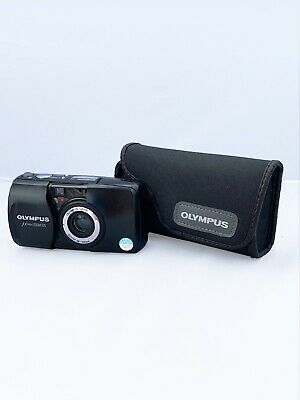 Olympus MJU Zoom 105 35mm Point and Shoot Camera + Case