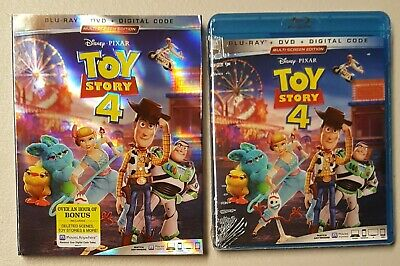 2019 Disney Pixar Toy Story 4 - Blu-Ray + Dvd + Digital Code + Slipcover - New