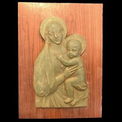 Very Rare Ancient Roman Bronze Reliquary Plaque Mounted On A Frame 200-400 Ad