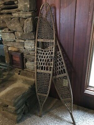 Vtg Snocraft Antique Wood Snowshoes Rustic Decor Lodge Cabin Wall Hangings LARGE