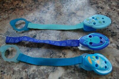3 x Tommee Tippee Baby Soother Dummy Holder Clip Chains
