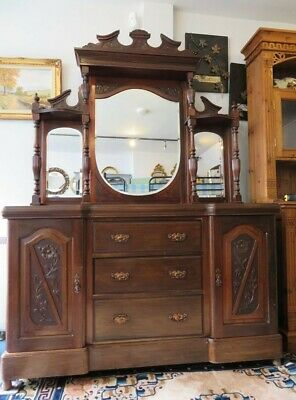 Victorian Decorative Mirror Back Dresser