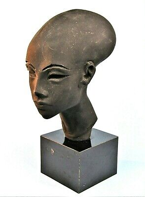 Ancient Egyptian Amarna Princess Elongated Head Bust Museum Replica Austin Prod.